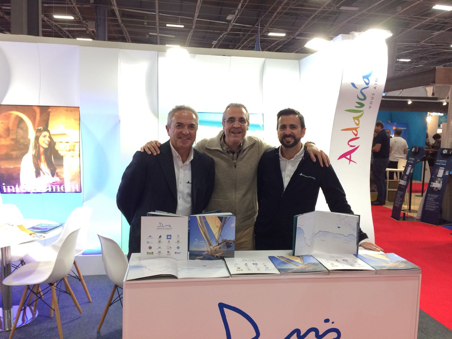 Andalusian ports are promoted at the Salon Nautique in Paris to attract French sailor