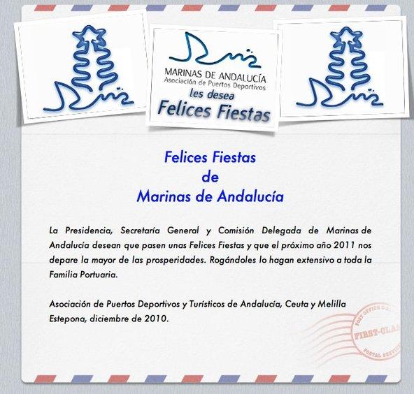 Marinas de Andalucía les desea unas Felices Fiestas