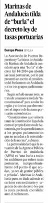 Marinas de Andalucia en Expansión y otros medios