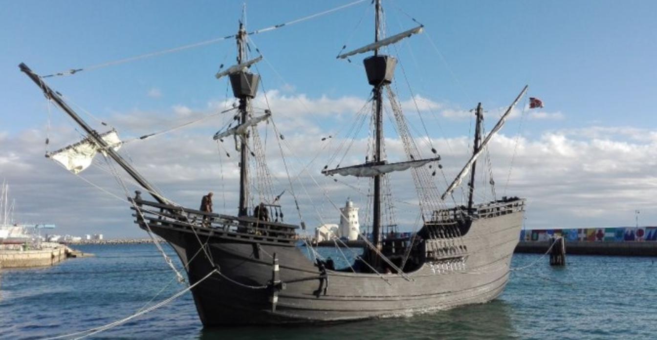La Nao Victoria acoge en Puerto Sherry el rodaje de una serie sobre el descubrimiento